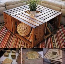 wine crate coffee table wonderful diy coffee table from recycled wine crates