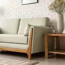 Sofa Wood Frame And Japanese Style Modern Cotton Double Trio Sofa Wood Frame