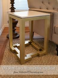 Diy Side Table Side Table With Greek Key Base