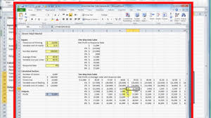 two way data table excel how to make a two way two variable data table in excel youtube