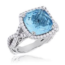 topaz gemstone rings images Fine gemstone jewelry blue topaz diamond cocktail ring 11ct jpg