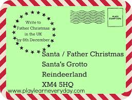 writing letters santa around world play and learn every day