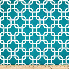 Home Decor Designer Fabric Premier Prints Gotcha Turquoise White Fabric Home Decor