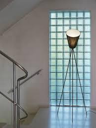 oslo wood floor lamp black shade black feet by northern lighting