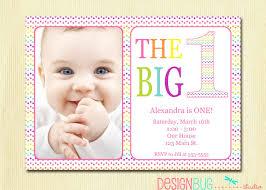 Customized Birthday Invitation Cards Rainbow First Birthday Invitation Baby Diy Photo