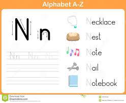 Writing The Alphabet Worksheets Alphabet Tracing Worksheet Writing A Z Stock Vector Image 44973643