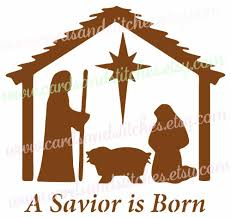 nativity stencil savior stencil baby jesus stencil