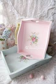silverplated items u0026 wood box painted with roses so shabby chic