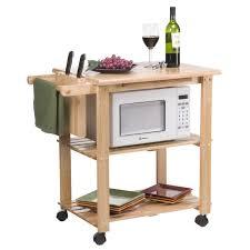 Folding Kitchen Island Cart Red Oak Wood Dark Roast Lasalle Door Origami Folding Kitchen