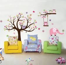 eulen kinderzimmer wandsticktattoo eulenbaum onlineshop mit günstigen preisen
