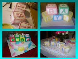 baby blocks shower cakes http www cake decorating corner com