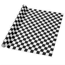 black and white wrapping paper black and white checkered squares wrapping paper zazzle