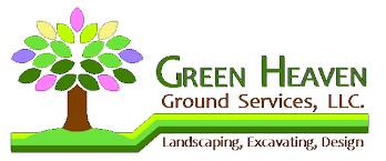 design logo go green go green heaven lawns irrigation systems hardscapes landscaping