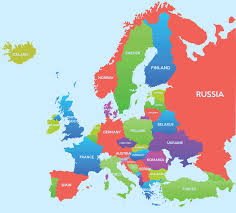 Eastern Europe Physical Map by Map Europe