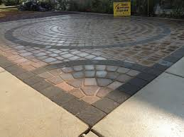 Paver Designs For Patios by Exterior Design Exciting Nicolock Pavers With Cozy Stone Bench
