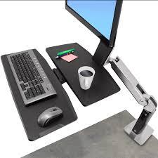 ergotron lx hd wall mount swing arm height adjustable worksurface workfit a workstation mount ergotron