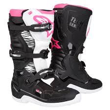 mx riding boots alpinestars girls mx boots stella tech 3 black white pink 2018