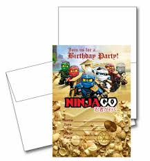 hunger games birthday party invitations amazon com 12 ninjago birthday invitation cards 12 white