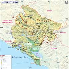 Europe Mountains Map by Map Of Montenegro