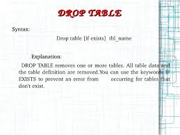 T Sql Drop Table If Exists My Sql Ppt