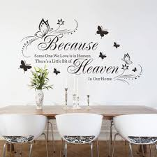popular decorating large bedroom buy cheap butterflies wall stickers home decor bedroom large quote decals because heaven decal art diy decorations