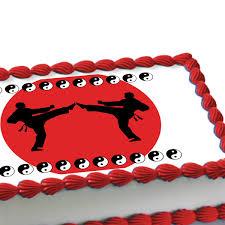 karate cake topper taekwondo cake decorating martial arts edible image cake