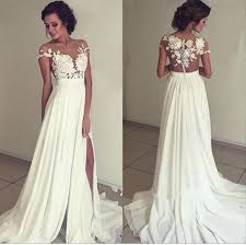 pretty dresses pretty white a chiffon lace prom dress evening gown