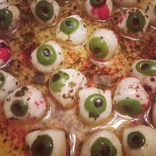 marinated eyeballs marinated mozzarella balls with green u0026 black