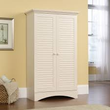 Bathroom Floor Storage Cabinets White Harbor View Storage Cabinet 400742 Sauder