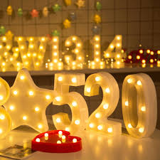 marquee numbers with lights 10 numbers white plastic led night light marquee lights l home