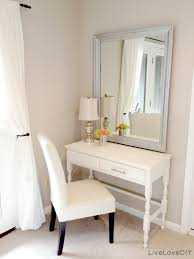 bathroom parsons chair with makeup vanities and table