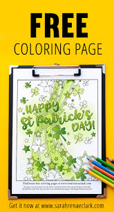 free st patrick u0027s day coloring page sarah renae clark coloring
