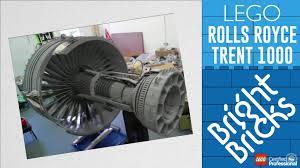 lego rolls royce lego rolls royce trent 1000 jet engine bright bricks timelapse