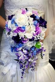 Cascade Bouquet Spring Purple Bridal Bouquet