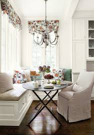 Curved Banquette Kitchen Traditional With Suzanne Kasler Dining Rooms Benjamin Moore Linen White
