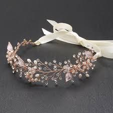pearl headband mariell gold freshwater pearl and bridal