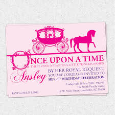 princess birthday party invitations horse drawn carriage