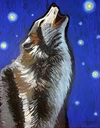 australian shepherd howling howling wolf paintings fine art america