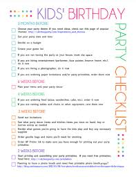 free printable kids u0027 party planning checklist party planning