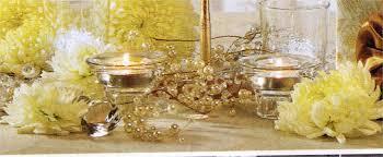 wedding reception table decorations pearl garland