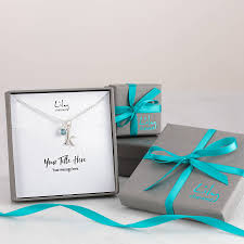 wedding gift message tree of necklace with personalised gift message by