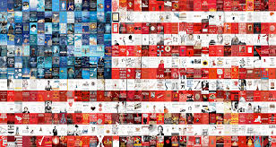 Blue White And Black Flag Red White And Books Our Literary Version Of The American Flag