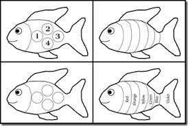 obseussed rainbow fish printable sharing activity