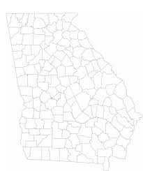County Map Ga Blank Georgia County Map Free Download