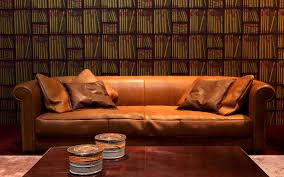Orange Leather Sofa Set Leather Sofa Set Wallpapers Odd Wallpapers