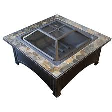 wood burning fire table az patio heaters 36 in slate wood burning fire pit in black ft