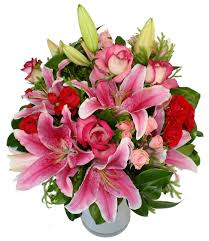 Bouquet Of Lilies Roses U0026 Lilies Flower Bouquets Free Delivery Flying Flowers