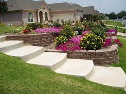 Front Yard Retaining Walls Landscaping Ideas - front yard landscape plans architectural design