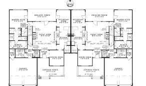 multi family compound plans ensenada luxury duplex home plan 055d 0888 house plans and more