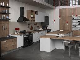 photo de cuisine amenagee cuisine équipée ouverte esprit loft modèle harmonie stratifié